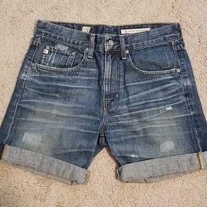 AG Ex-Boyfriend Roll-Up Jean Shorts